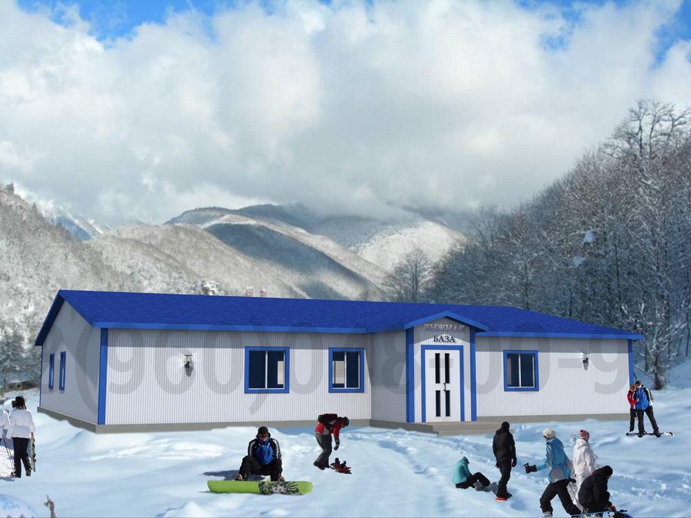 Раздевалки, лыжные базы. Компании NEW HOUSE